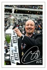 RAFA BENITEZ NEWCASTLE UNITED 2016/17 CHAMPIONS AUTOGRAPH SIGNED PHOTO PRINT