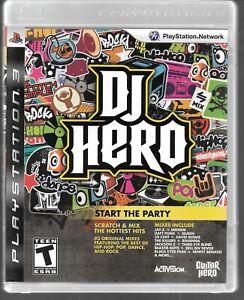 PLAYSTATION 3 PS3 Activision Dj Hero Usé Jeu