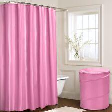 Plain Pink Shower Curtain 180cm X 180cm With Hooks