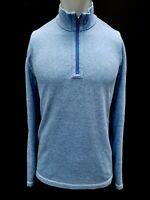 New Tommy Bahama Men's Super Soft 1/2 Zip Beach Pullover, Blue, S-3XL