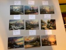 60 Thomas Kinkade New 4x6 Collectable Dealer Postcards-cabins, lighthouses.