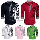 COOFANDY Men Long Sleeve Turn Down Neck Loose Tops Casual Cotton Shirts BF9