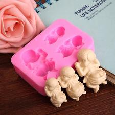 3 Sleeping Baby Silicone Mold Fondant Soap Mould Cake Decorating