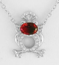 AZOTIC TOPAZ 0.75 Cts  & WHITE SAPPHIRE PENDANT Silver Plated * NEW WITH TAG *