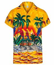 MENS HAWAIIAN SHIRT PARROT THEMED PARTY HOLIDAY BEACH FANCY DRESS STAG DO