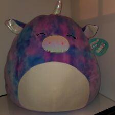 "Squishmallow Aurora the Unicorn20"" Huge NWT plush Kellytoy Squishmallow RARE"
