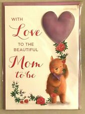 Papyrus Mother's Day Card: Love to the Beautiful Mom to Be Pregnant Teddy Bear