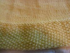 """Hand Knit Yellow Cowl Scarf 8"""" x 17"""""""