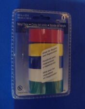LOT OF FIVE ROLLS ASSORTED COLORED VINYL ELECTRICAL TAPE MARKING COLOR CODE