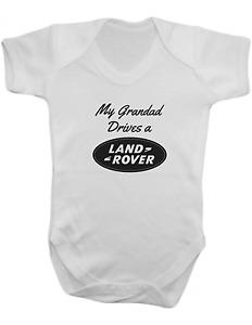 My Grandad Drives a Land Rover -Baby Vest-Baby Romper-Baby Bodysuit-100% Cotton