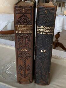 Ancien dictionnaire 2 volumes Larousse Universel 1923