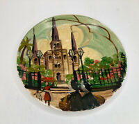Vtg Crown Potteries Salad Plate Artist Hand Painted & Signed M Hartnett *READ