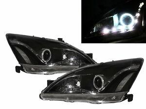 ACCORD CM MK7 2003-2007 4D CCFL Projector R8Look Headlight Black for HONDA RHD