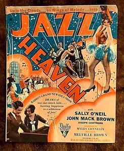 JAZZ HEAVEN 1929 ORIGINAL MOVIE HERALD - SALLY O'NEIL, JOHN MACK BROWN