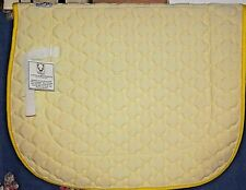New Wilkers A/P English Riding Pad Yellow with White Trim  Billet Strap