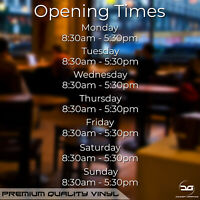 Shop Opening Times Hours Sign Customised Windows Walls Door Vinyl Decal Sticker