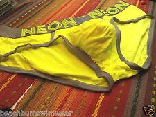 CheapUndies Mens Yellow Bikini Brief - unlined pouch - Size:XL/37~39 NWT/NIP