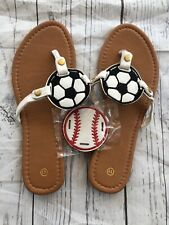 Womens Sports Flip Flops Sandals Soccer Baseball Size 11 (fit Like 9.5/10) New