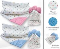 Silicone Baby Teething Mitt Glove and Bib set | Safe | NO BPA | Chew Dummy Toy