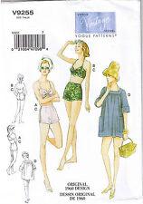Vtg 60s Halter Bra Sun Beach Shorts Coverup Sewing Pattern Plus 14 16 18 20 22