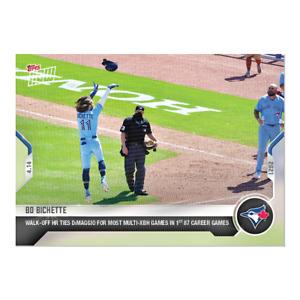 Bo Bichette 2021 MLB Topps Now Card #75 Ties Joe DiMaggio for Record 4/14/21