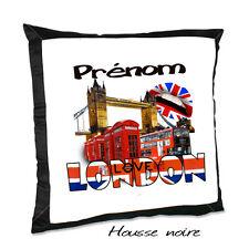 Coussin noir LONDON  avec le prénom de votre choix