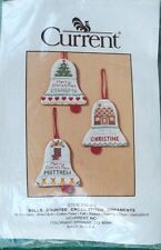 Rare Current Bells Counted Cross Stitch Ornments Needlecraft Sewing Fun Kit