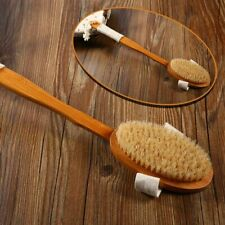 Bath Brush Natural Bristle Handle Wooden Soft Hair Rub Shower Massage Health