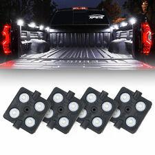 Xprite 4pcs WHITE 16 Under Body LED Light Pods Strip for Dodge Ram Toyota Trucks