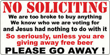 NO SOLICITING STICKER FUNNY DOOR KNOCKER STICKER NO HAWKERS SOLICITING DOOR SIGN