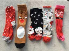 Ladies/Girls Christmas Sock Bundle Shoe Size 4/7 Please Read Description