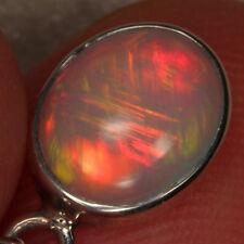 Opal Pendant 925 Sterling Silver Welo Ethiopian RARE Straw Great Fire Pattern