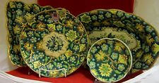 Vintage 4 Piece Emaux De Longwy French Enameled Majolica Pottery