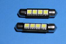 2 x error free White 42mm 4-SMD LED Festoon Dome Car Reading Light Lamp Bulb