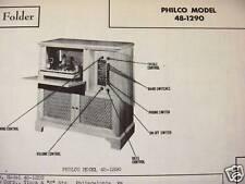 PHILCO 48-1290 PHONOGRAPH - RADIO PHOTOFACT
