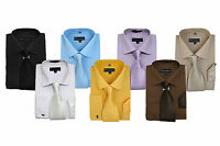 Men's Solid Color Dress Shirt with Matching Tie and Handkerchief  SG27