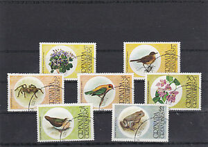 Grenade Grenadines 1976 Flowers Birds Spiders Toad 7 Cancelled Stamps