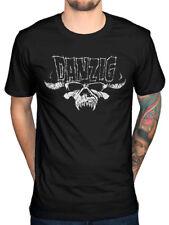 Official Danzig Classic Logo T-Shirt Skeletons Black Laden Crown Blackacidevil