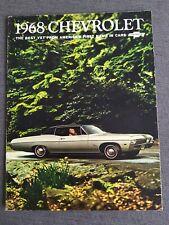 CHEVROLET CHEVY Impala SS Caprice Bel Air Biscayne Prospekt Brochure USA 1968 AI