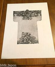 Photogravure kimono papier épais - Tirage de 1940 - 1