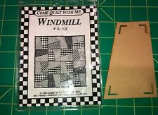 "Come Quilt With Me Windmill 4"" Block Quilting Template"