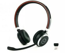 More details for jabra evolve 65 ms duo bluetooth headset - black/silver