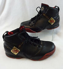 Nike Zoom LeBron V 5 Men's Sz 9 Varsity Black Crimson Gold 317253-001 Shoes READ