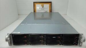 JBOD SuperMicro CSE-826 2U Chassis w/ 12x 3.5 Bays,SAS826EL1,2xPSU,+Rails ->Chia