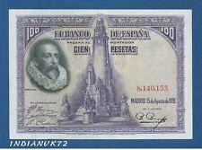 ESPAÑA // SPAIN -- 100 PESETAS ( 1928 ) -- EBC // XF -- SIN SERIE // NO SERIAL