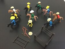 VINTAGE# LOT LOTTO  COWBOY & CAVALLI HORSE PLAYMOBIL FROM 70s 80s [AO]