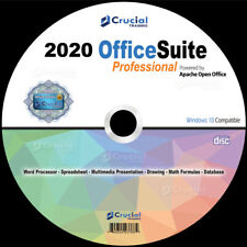 2020 OpenOffice Suite Software CD Home Student Business for Microsoft Windows