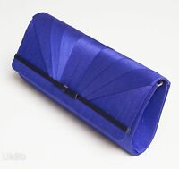 Jacques Vert Clutch Shoulder Hand Bag Black & Blue Mother of the Bride Wedding