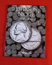JEFFERSON NICKEL SET 1938-1961 NEW HARRIS 66 COIN FOLDER ALBUM BOOK CHECK STORE
