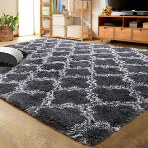 Shaggy Rug Ultra Soft Floor Mat Carpet Rugs Shag Area Mat Bedroom Living Room AU